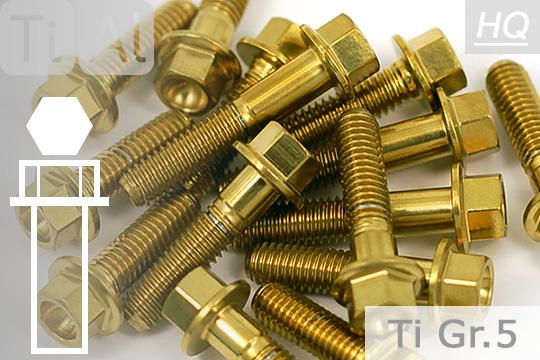 Titan Sechskantschraube mit Flansch DIN 6921 Feingewinde Grade 5