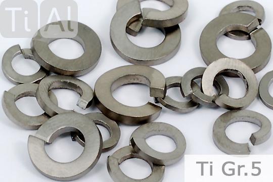 Titan Federringe DIN 127A Grade 2 Unterlegscheiben U-Scheiben