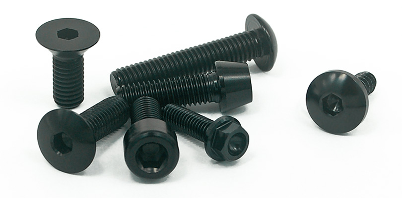 aluminium bolts black