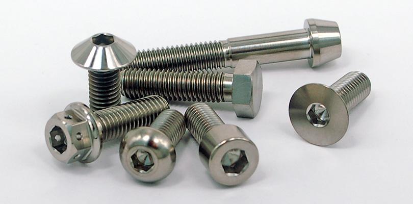 titanium bolts silver